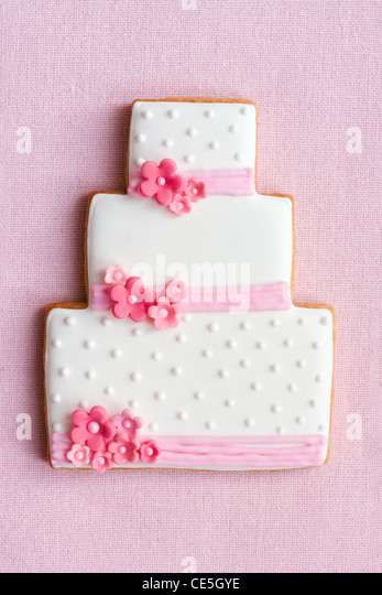 Wedding cake cookie - Stock Image