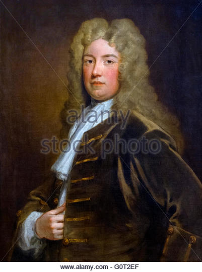Robert Walpole. Portrait of Prime Minister Sir Robert Walpole, 1st Earl of Orford (1676–1745), by Sir Godfrey Kneller, - Stock Image