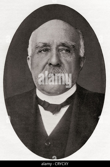 Georges Benjamin Clemenceau, 1841 – 1929. French journalist, physician, statesman and Prime Minister of France. - Stock Image