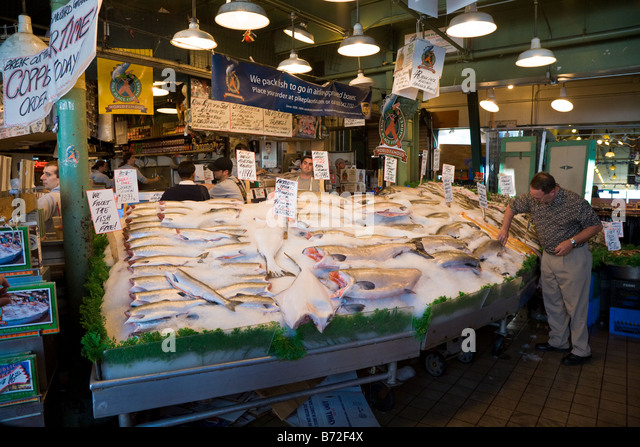 Fish market seattle stock photos fish market seattle for Famous fish market in seattle