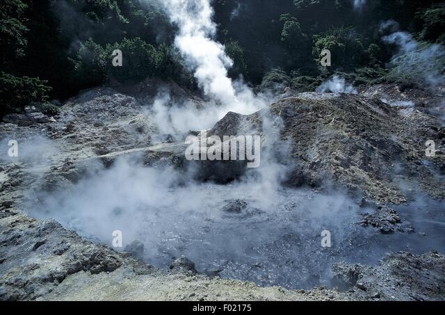 West Indies - Antilles - Saint Lucia - Sulfurous steam vent (solfatara) - Stock Image