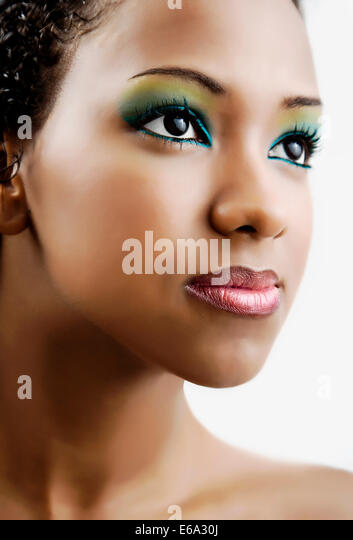 beauty,cosmetics,young woman,woman,makeup - Stock Image