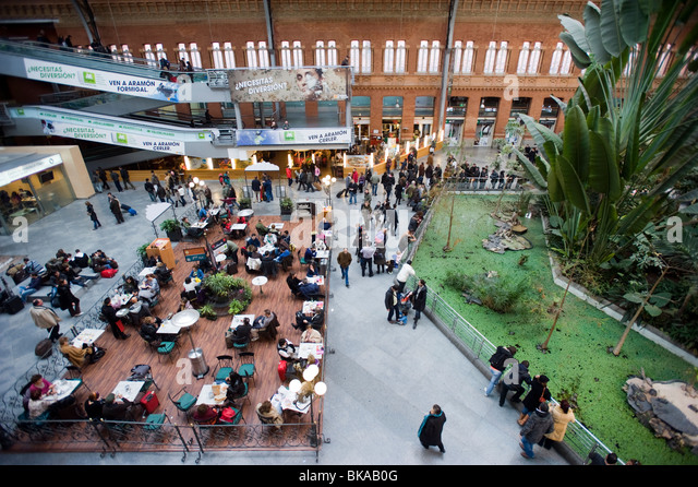 Atocha Madrid Central Train Station Spain - Stock Image
