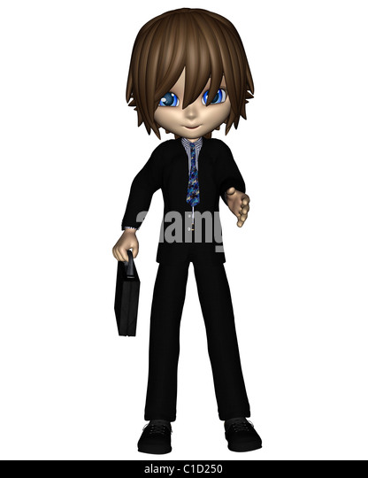 Cute Toon Business Man - 2 - Stock Image