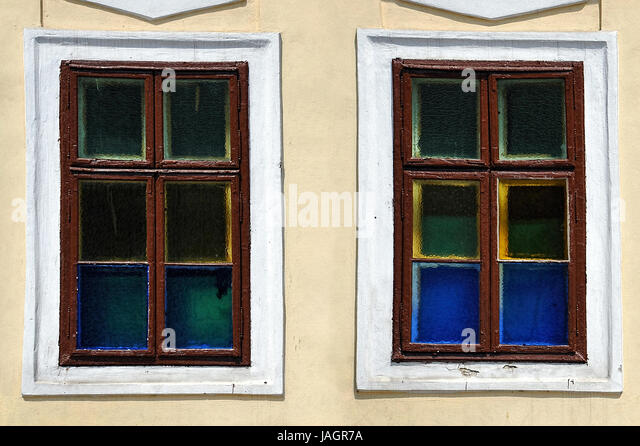Windows: The view, the outlook - any color you like - Stock Image
