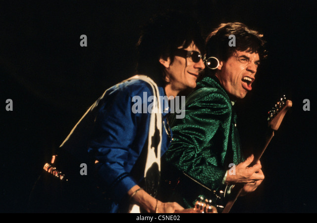 rolling stones, mick jagger, ron wood - Stock Image