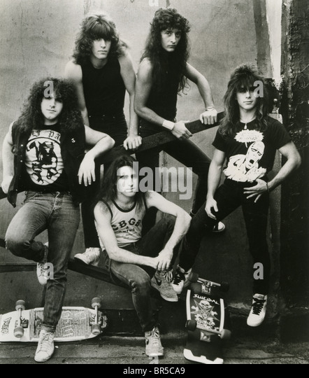 ANTHRAX  Promotional photo of US rock group about 1982. There have been many personel changes over life of the group - Stock Image