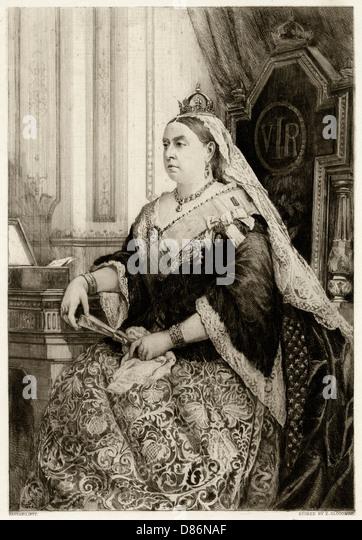 Queen Victoria - Stock Image