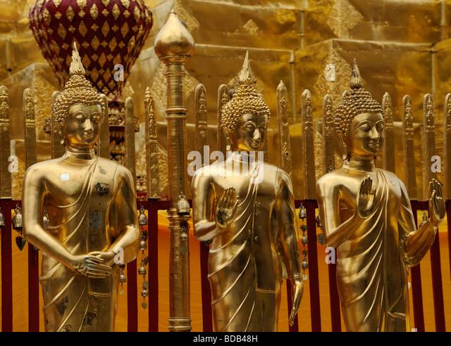 Wat Phra That Doi Suthep Chiang Mai Thailand Asia Temple travel faith religion - Stock-Bilder