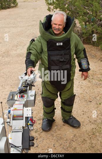 Brad Lounsbury, bomb technician, LANL emergency response group - Stock Image