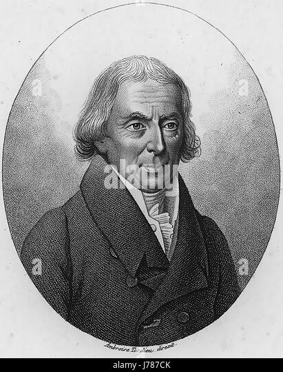 RENE DESFONTAINES (1750-1833) French botanist - Stock-Bilder