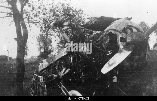 Crashed Russian Plane during WWII world war two - Stock Image