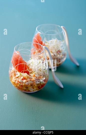 Crab and Grapefruit Salad - Stock Image
