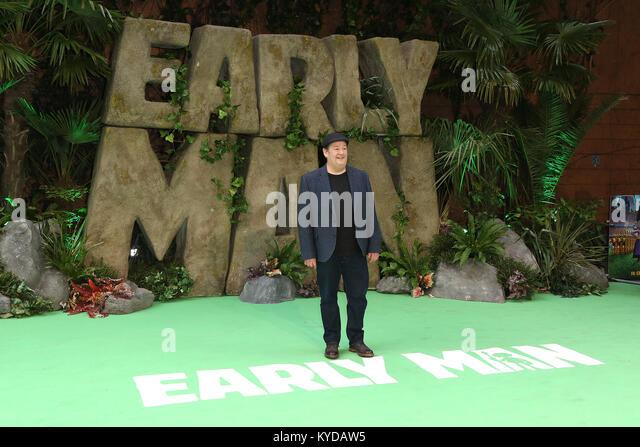 London, UK. 14th January, 2018. Johnny Vegas, Early Man - World premiere, BFI IMAX, London UK, 14 January 2018, - Stock Image