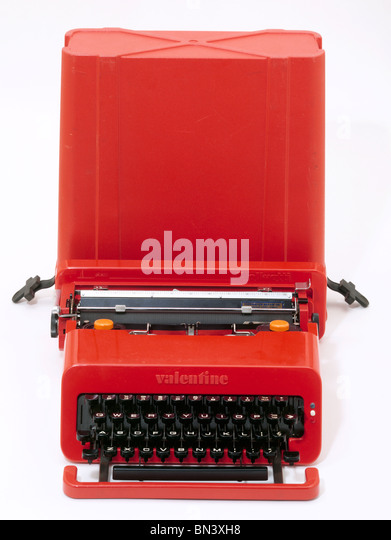 Valentine' typewriter, designed by Ettore Sottsass with Perry King. Italy, c.1969 - Stock Image