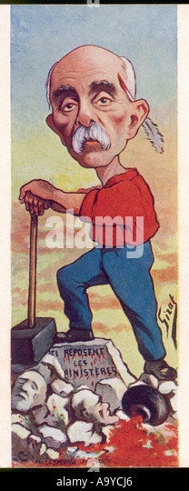 Clemenceau Caricature - Stock Image