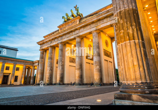 Brandenburg Gate in Berlin, Germany. - Stock-Bilder