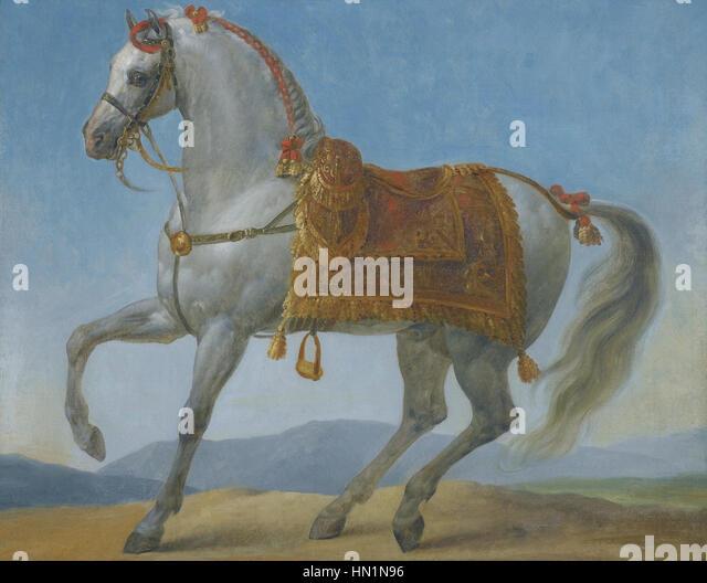 Marengo, Napoleon Bonaparte's Arab Stallion by Antoine-Jean, Baron Gros - Stock Image