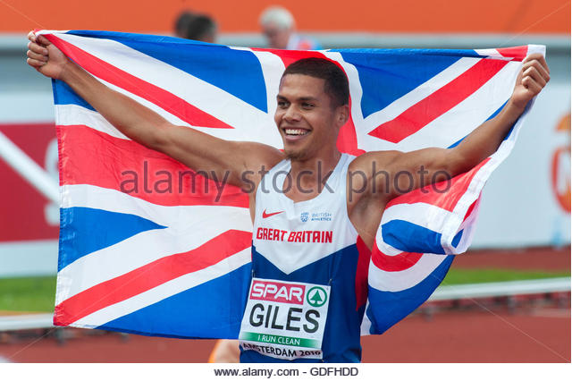 Amsterdam The Netherlands 10th July Final day of the 2016 European Athletics Championships in Amsterdam. 800m men - Stock Image