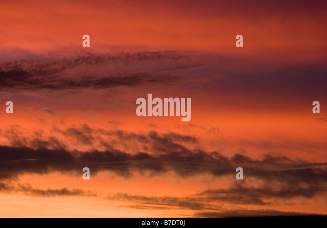 Storm clouds at dusk - Stock Image