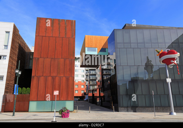 Museum of Contemporary Art, Lower Downtown, Denver, Colorado, United States of America, North America - Stock Image