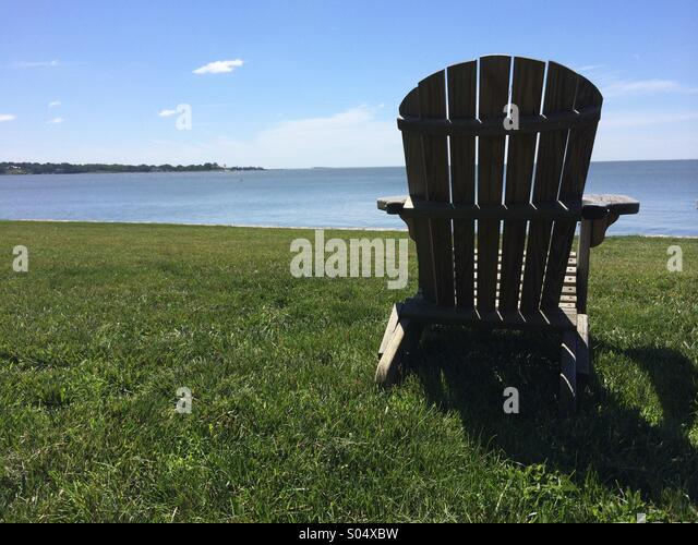 Empty Adirondack Chair - Stock-Bilder