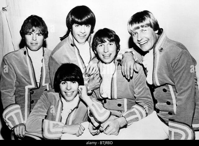 Paul Revere & the Raiders,  Mike Smith, Phil Volk (bottom), Mark Lindsay (top), Jim Valley, Paul Revere, circa - Stock Image