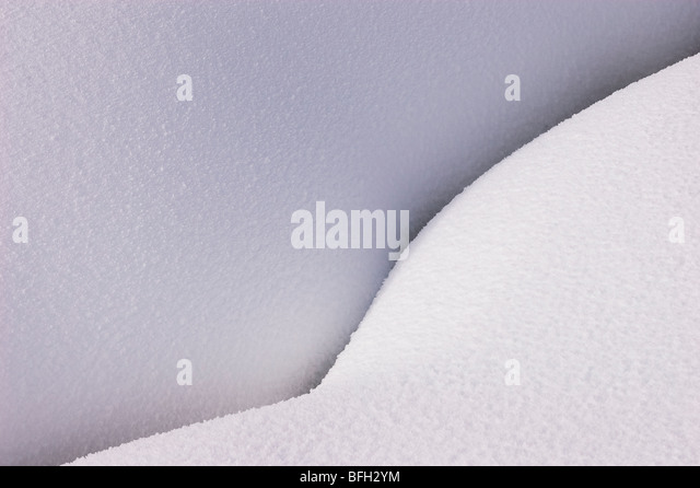Mounded snow; Yellowstone National Park, Wyoming. - Stock Image