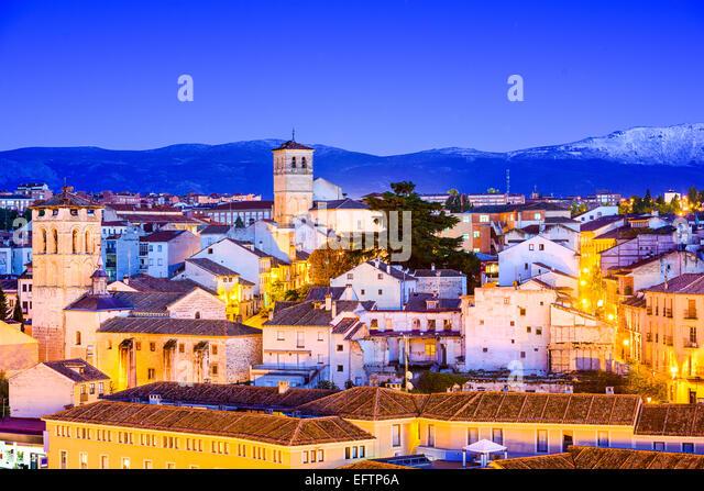 Segovia, Spain old town cityscape. - Stock Image