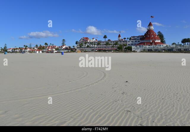 Hotel del Coronado  beach front hotel in the city of Coronado, - Stock Image