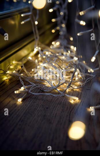 Fairylights stock photos fairylights stock images alamy - Christmas window sill lights ...