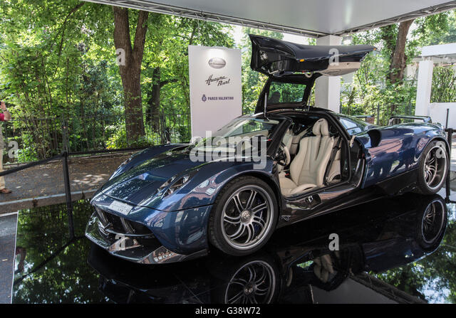 Turin, Italy. 09th June, 2016. Turin car show,from 8th to 12 th June 2016. Pagani Huayra Pearl Credit:  RENATO VALTERZA/Alamy - Stock Image