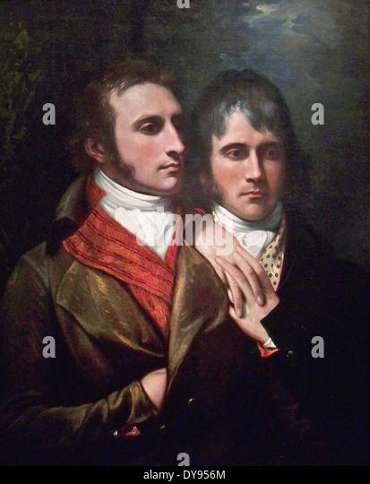 Benjamin West Raphael West and Benjamin West, Jr., Sons of the Artist - Stock Image