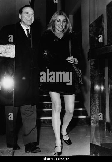 Actress Sharon Tate and Vittorio Gassman - Stock Image