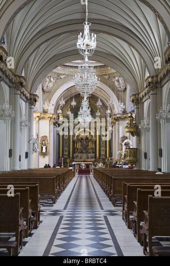 Santo Domingo Convent Church in Lima Centro District, Lima, Peru - Stock Image