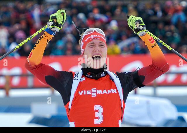 Khanty-Mansiysk Russia  city photo : Khanty Mansiysk, Russia. 21st Mar, 2015. Silver medalist, biathlete ...