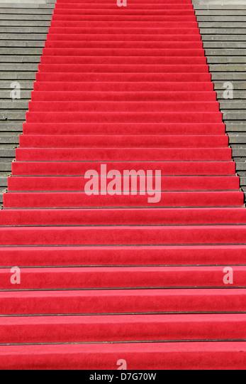 Berlin Mitte Gendarmenmarkt playhouse red carpet - Stock Image