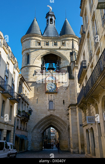 Medieval gate in Bordeaux, France - Stock Image