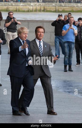 Boris Johnson and Arnold Schwarzenegger - Stock Image