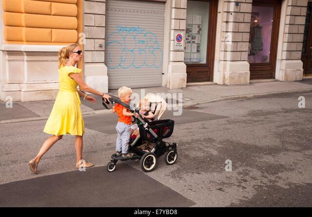 Girl Walks To School Stock Photos Amp Girl Walks To School