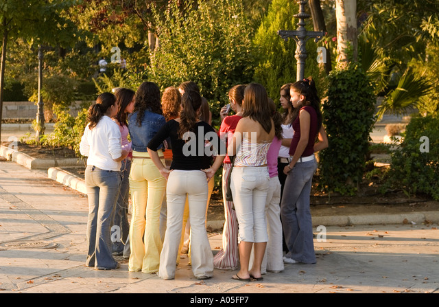 spain Andalucia Ronda  Teenager strolling over the promenade - Stock Image