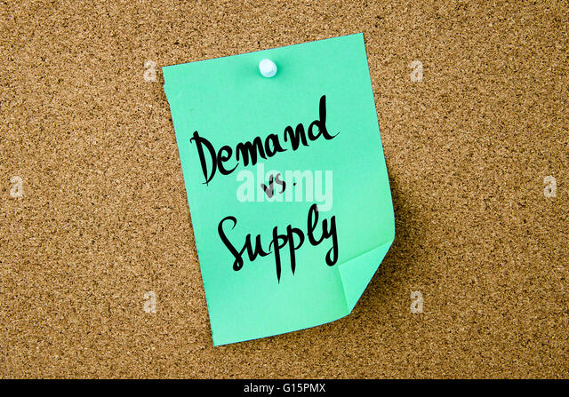 demand versus supply paper Supply and demand, in economics, relationship between the quantity of a  commodity that producers wish to sell at various prices and the quantity that.