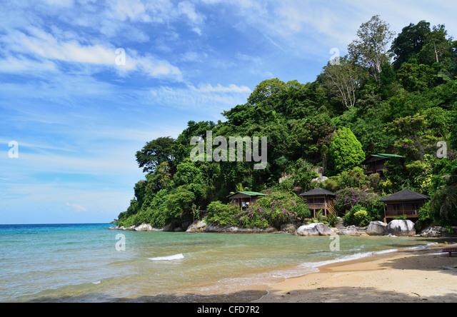 Salang beach, Pulau Tioman (Tioman Island), Pahang, Malaysia, Southeast Asia, Asia - Stock Image