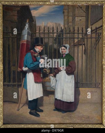 Augusta Le Baron-Desves  Le marchand de coco 1843 Musée Carnavalet - Stock Image