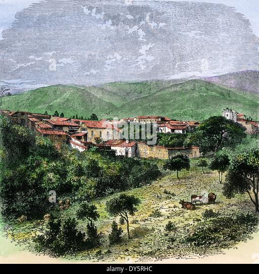 Caracas, the capital of Venezuela, circa 1880. - Stock-Bilder