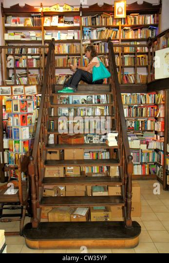Buenos Aires Argentina Avenida Adolfo Alsina La Libreria de Avila del Colegio historic bookstore bookseller books - Stock Image