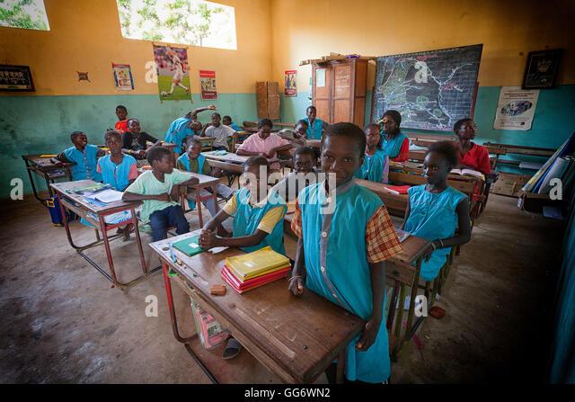 Afiniam school children, Casamance, Senegal - Stock Image