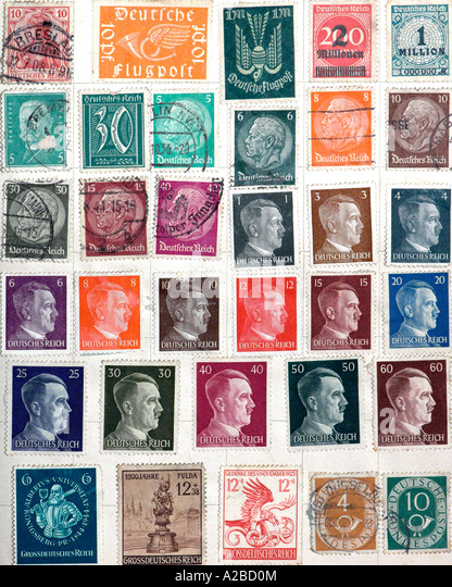 Stamps of Germany 1940s - Stock Image