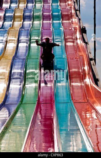 Canadian National Exhibition 2012 Toronto ON Canada. Slide Ride - Stock Image