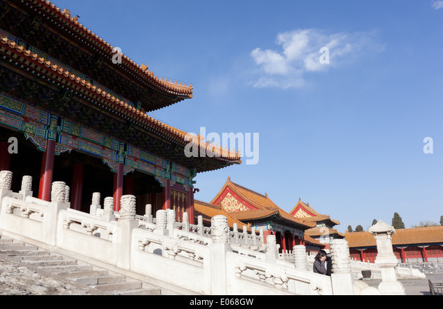 Steps of the Hall of Supreme Harmony in The Forbidden CIty - Stock-Bilder